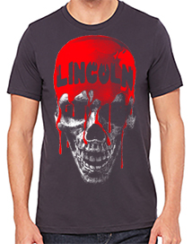 t shirt bleeding skull
